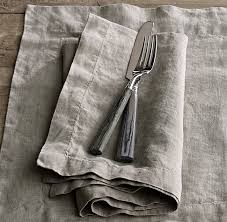 belgian linen dinner napkins set of 4