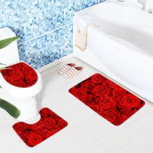 Flower Bath Rug Online Get Cheap Red Bathroom Rug Sets Aliexpress Com Alibaba Group