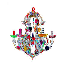 Multi Coloured Chandeliers Multicolor 18 Light Chandelier For Amazing Residence