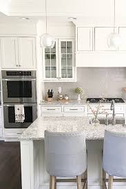 Kitchen Cabinets White Shaker Carolineondesign White Shaker Cabinets And Soft Grey Subway 3x6