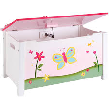 Wood Toy Chest Plans by Guidecraft Butterfly Buddies Toy Box Pink Walmart Com