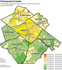 map of berks county pa study confirms assumption about berks county taxes reading eagle