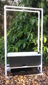 earth box support stand with trellis with drainage tray