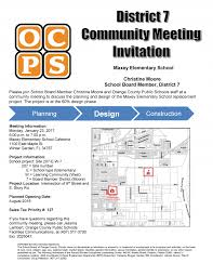 ocps district 7 community meeting west orange chamber of commerce