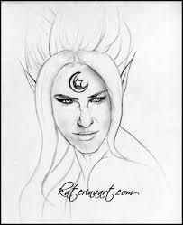 moon queen elf sketch by katerina art on deviantart