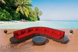 Modern Wicker Patio Furniture Outdoor Wicker Sectional Sofa Set 3r J 1