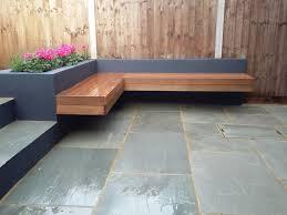 modern garden design london natural sandstone paving patio