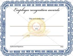 employee recognition awards certificate certificate template