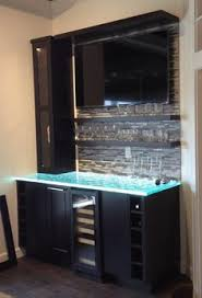 contemporary textured cast thick glass countertops by studio l