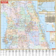 Map Of North Florida Counties Florida Wall Maps National Geographic Maps Map Quest Rand
