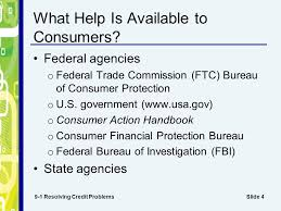 us federal trade commission bureau of consumer protection chapter 9 credit problems and laws slide 2 how can consumers