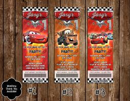 cars movie novel concept designs disney u0027s cars movie birthday party ticket