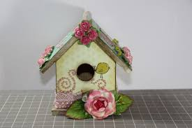 1amscrapper altered shabby chic bird house