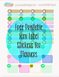 Printable Labels Wendaful Printable Stickers Planners