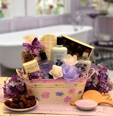 bath spa gift basket with caramel theme creams and lotions