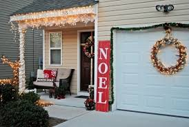 garage door christmas decorating ideas designcorner