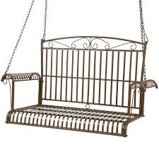 Furniture Choice Bcp Iron Patio Hanging Porch Swing Chair Bench Seat Outdoor