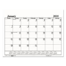 cool desk pad calendars house of doolittle 2018 monthly desk pad calendar refill economy