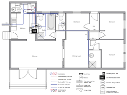 draw kitchen floor plan plumbing and piping plans solution conceptdraw com