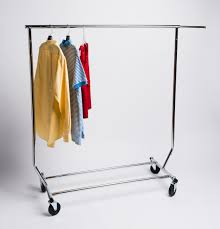 rolling clothing rack single collapsible a u0026b store fixtures