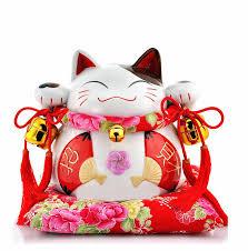 ceramic maneko japanese lucky cat shop ornament piggy bank opening