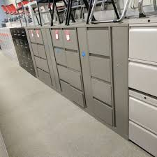 Vertical Filing Cabinets Metal by 5 Drawer Vertical File Cabinet Light Grey Taupe U2013 Used Office