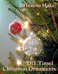 on the side how to make diy tinsel ornaments taste as