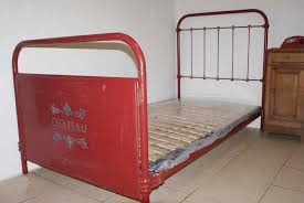 french shabby chic single red bed 3 ft 3 includes base