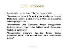 contoh membuat proposal riset riset teknologi informasi ppt download