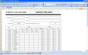 monthly timesheet time sheet template