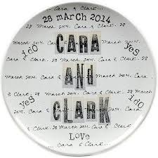 personalized wedding plate gift museware pottery silver circle