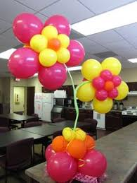 up up and away balloon centerpiece i created http www