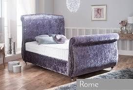 Velvet Bed Frame Rome King Size Bed Frame In Crushed Velvet Purple Allans