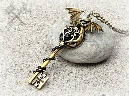dragon key necklace images Obsidian dragon key necklace by artbystarlamoore jpg
