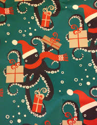 octopus wrapping paper octopus holidays gail carriger