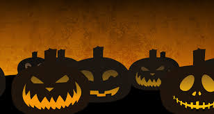 halloween pumpkin head jack lantern with burning candles over black background pumpkins looping background 4k free stock video footage download clips