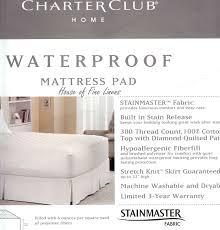 Home Design Waterproof Mattress Pad Waterproof Mattress Pad Allergy Zippered Waterproof Mattress