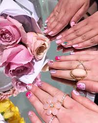 kawaii barbie nail art at bar à ongles candy montreal fashion