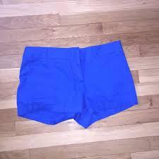 76 off j crew pants jcrew womens cobalt blue shorts 6 from