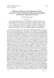 microbiology society journals inhibition of influenza virus
