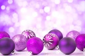 purple christmas lights purple christmas with baubles stock image image of bauble