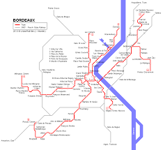 map of bordeaux bordeaux tram map for free map of bordeaux tramway network