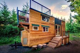 basecamp tiny home has huge roof deck built for mountain climbers