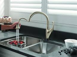 delta addison kitchen faucet touch activated water faucet
