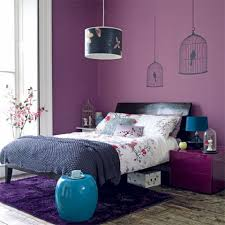 Interior Blue Decorating The Bedroom With Green Blue And Purple