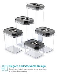 amazon com royal air tight food storage container set 5 piece
