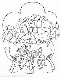 joshua fought the battle of jericho coloring pages biblewise in