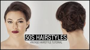 50s updo hairstyles how to do 50s hairstyle vintage hairstyle tutorial youtube