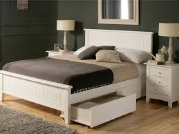 White Wood King Bed Frame Brilliant King Size Wood Bed Frame Plans Andreas Regarding White