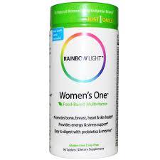 rainbow light prenatal one vitamins rainbow light just once women s one food based multivitamin 90